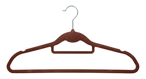 IRIS Non-Slip Clothes Hanger, Brown, Set of 10 ()