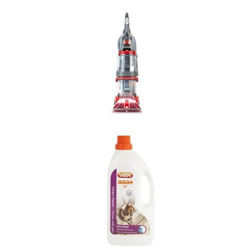 Vax V-124A Dual V Upright Carpet and Upholstery Washer and aaa+ Pet Carpet Solution Bundle