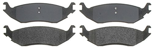 (ACDelco 14D967M Advantage Semi-Metallic Rear Disc Brake Pad Set)