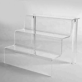 Captivating Acrylic Stair Step Display (ST9: 12 1/4H X 18W X 12