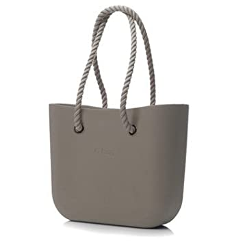 Amazon.com: Obag Beach Bag - Shopping Tote Purse in Rock with Rope ...