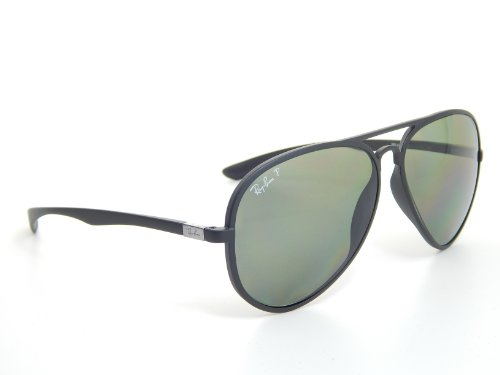5542a165f701f Ray Ban Liteforce Aviator RB4180 601S9A Matte Black Green Polarized 58mm  Sunglasses