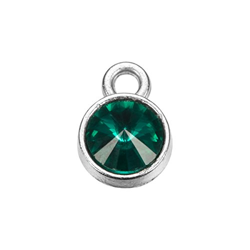 AMIST Birthstone Crystal Charm Pendant Accessories for Necklace Bracelet Jewelry Making (May)