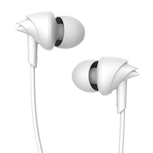boAt BassHeads 100 in-Ear Wired Earphones with Super Extra Bass, in-line Mic, Hawk Inspired Design and Perfect Length Cable (White)