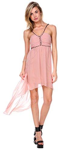 Stanzino Women's Halter Asymmetrical Chiffon Dress