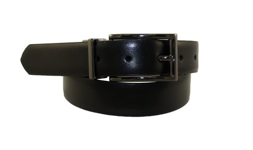 Dockers Big Boys' Reversible Black To Brown Belt With Gunmetal Buckle,Brn/Blk,MD (waist 26