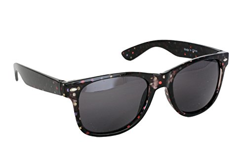 Multicolor retro cuadrado Gafas de UV400 redondeado brazos marco negras y estilo FG120 protección manchada para mujer Foster 2 100 15712 de UV CAT sol plástico Grant negras SPVL lentes Estilo wAnqg87