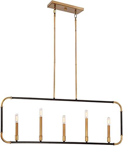 Price comparison product image Minka Lavery Farmhouse Island Chandelier Mini Pendant Lighting 4065-660 Liege Dining Room Fixture,  5-Light 300 Watts,  Bronze