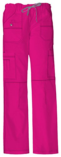 Dickies Women's Plus Size GenFlex Cargo Scrubs Pant, Hot Pink, XXX-Large