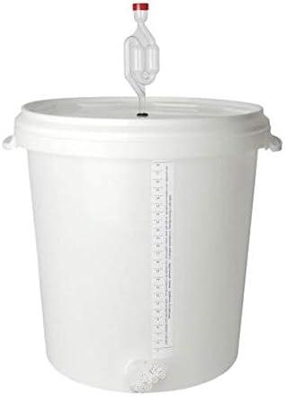 Gran tanque de fermentación con unidad de fermentación para vino y cerveza, 30 litros, elaboración de cerveza casera para aficionados y amantes de la cerveza