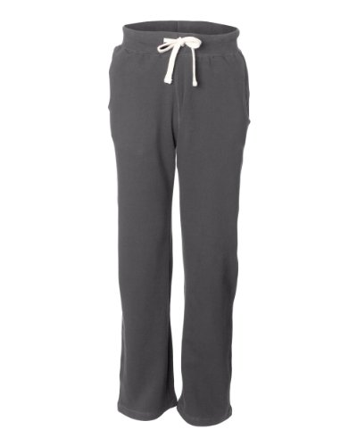 (MV Sport Cross Weave Open Bottom Sweatpants. 7766 Small Graphite)
