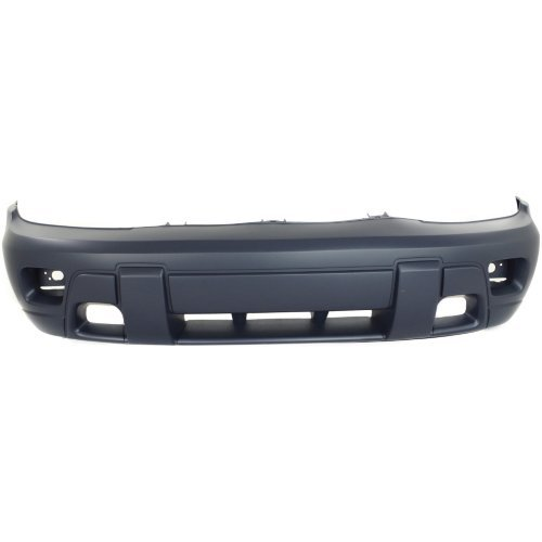 Bumper Hole Cover - Front Bumper Cover Compatible with CHEVROLET TRAILBLAZER 2002-2005 Primed with Fog Light Holes with 2-Tone Paint