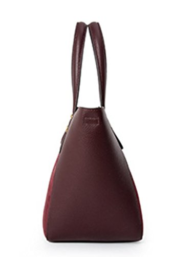 Shopping Bags Burgundy Large Shoulder Elegant Ladies Bag Shoulder Trip Luxury Capacity gYSnA5q