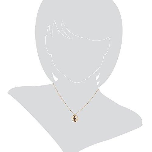 Gioiello ItalianoCollier en or jaune 14 carats avec améthyste violette