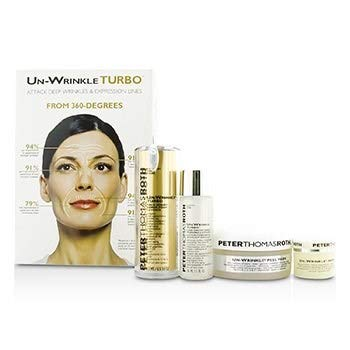 Amazon.com : Peter Thomas Roth Un-Wrinkle Kit: Peel Pads 20pads + Turbo Face Serum 15ml/0.5oz + Night Cream 8g/0.3oz + Lotion 30ml/1o : Beauty