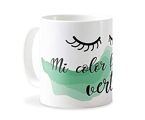 Personaliza tu carcasa Tazas de café o Desayuno con diseños de Latorita | Tazas de cerámica Blanca (AAA) | Taza con Frase - Mi Color Favorito es el ...