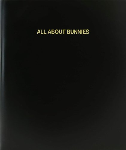 Bunny Journal (BookFactory All About Bunnies Log Book / Journal / Logbook - 120 Page, 8.5