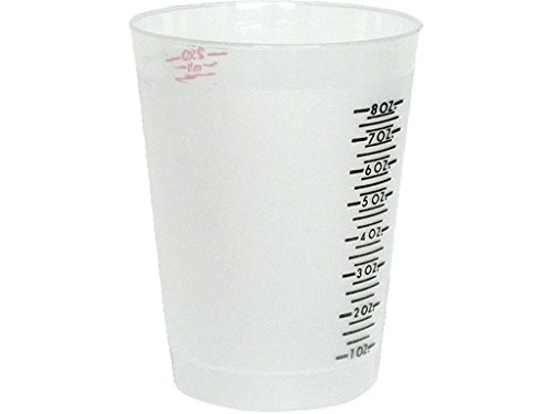 Environmental Tech. Mixing Cups (Pack of - Measurements Plastic With Cup