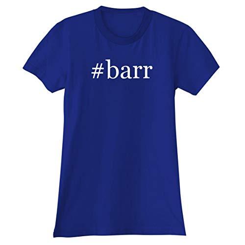 The Town Butler #barr - A Soft & Comfortable Hashtag Women's Junior Cut T-Shirt, Blue, Large (T Virus Necklace)