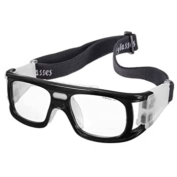 0817ab2c671 Buy Generic Football Basketball Riding Protective Safety Eyewear Goggles  Sports Eye Glasses-Black Online at Low Prices in India - Amazon.in