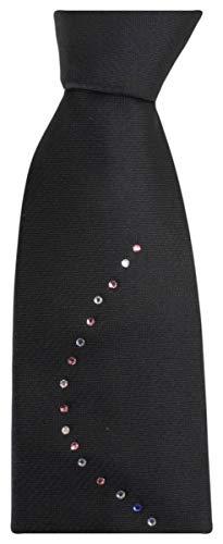 Pattern Tie Black Wave Neckwear Mens Knightsbridge colour Diamante Multi wqZ7nI