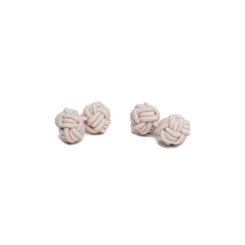 Silk Alexander of Knot Solid Jacob Color Pair Peach Cufflinks fTwxqx1z4