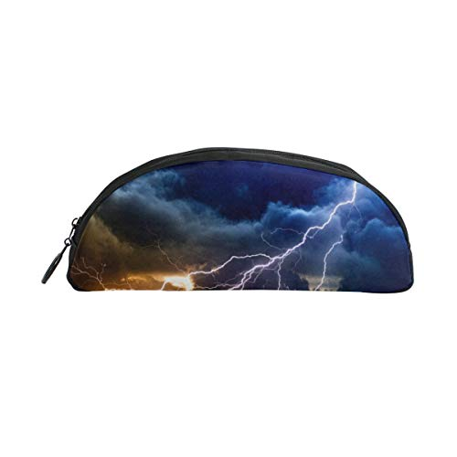 HengZhe Pencil Case Lightning Storm Pen Bag Cosmetic Pouch Students Stationery Holder Office Organizer