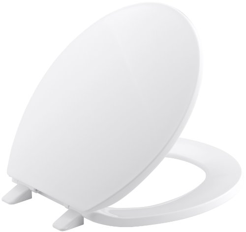 Round White Front - Kohler  K-4775-0 Brevia with Quick-Release Hinges Round-front Toilet Seat in White