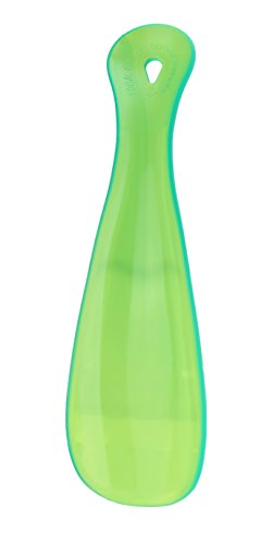 Milano Green - Milano Multicolor Shoe Horns. 6-1/2 Inches long. Made In Italy Shoehorns. Will fit on any shoe size. (Clear Green)