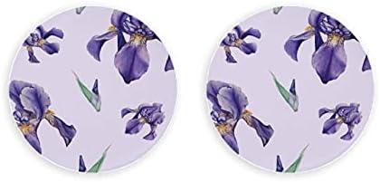 Clip magnético de flor de Iris de primavera retro romántico 2 piezas de abridor de cerveza imanes de nevera