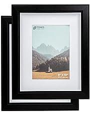 TONES FRAME DESIGN Smooth MDF Frame / Black Wood Finish/2pk