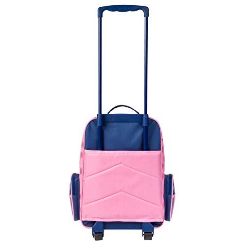 Stephen Joseph Girls' Little Classic Rolling Luggage, Rainbow