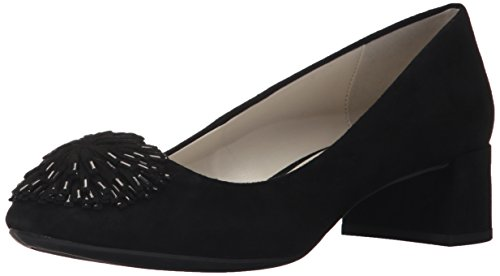 Anne Klein AK Sport Women's Happy Suede Pump, Black, 6.5 M US