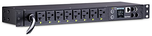 CyberPower PDU81002 Switched Metered-By-Outlet PDU, 100-120V/20A, 8 Outlets, 1U (Rackmount Power Distribution Center)