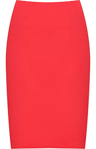 avec tailles une 40 54 Rouge mi serre fente Jupe WearAll Grandes longue Jupes Femmes xwITvFTqC