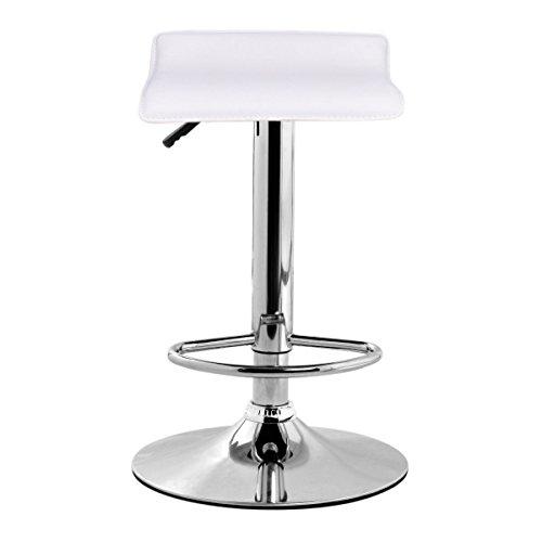 Costway Modern PU Leather Contemporary Chrome Bar stool W/ A