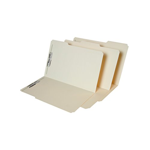 SJ Paper WaterShed/CutLess Manila Folder with 2 Permclip Fasteners- Legal Size, Top Tab (50/Box)