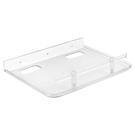 Lutyens Plastic Unbreakable Set-top Box Stand, 9x8 Inches, Clear