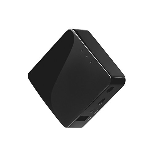 (GL.iNET GL-AR300M Mini Travel Router, Wi-Fi Converter, OpenWrt Pre-Installed, Repeater Bridge, 300Mbps High Performance, 128MB Nand Flash, 128MB RAM, OpenVPN, Tor Compatible, Programmable IoT Gateway)