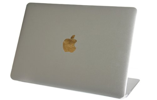 Shiny Real 22k Gold Leaf Macbook Air Logo Color Changer Vinyl Sticker Decal Mac Apple Laptop