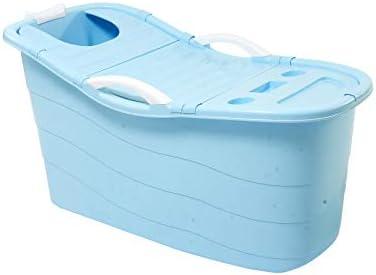 大人/子供のためのバス蓋すべり止め/ダブルドレインと大人のバスタブポータブル、別の家族浴室SPAバスタブプール,ブルー,B