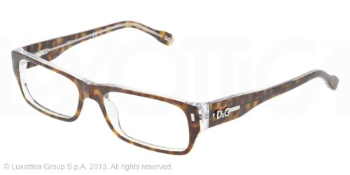 D&g Vintage Dd1204 Eyeglasses 556 Havana On Crystal Demo Lens 53 16 - Gabbana Vintage Dolce And