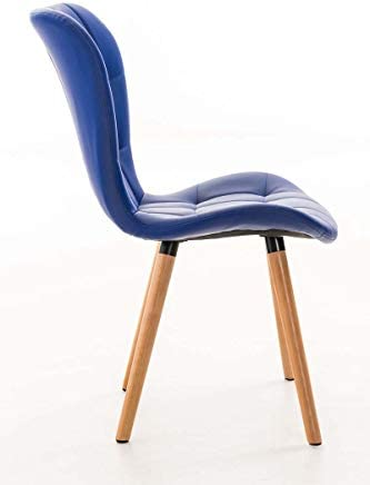 Yellow Soho - Chaise Moderne Veronika Cuir Synthetique Couleur Principale - Bleu