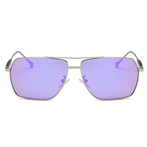Métal Frame Lunettes Lens Blue Lens Frame Couleur Colorées Soleil LBY Purple Soleil en Lunettes Femme de De Gun Gun HX7WXxUwqY