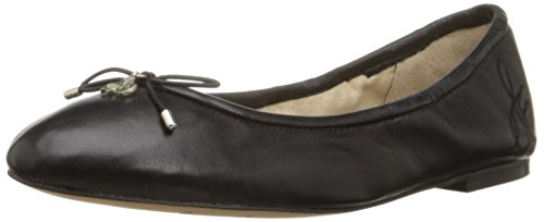 (Sam Edelman Women's Felicia Ballet Flat, Black Leather, 7.5 W)
