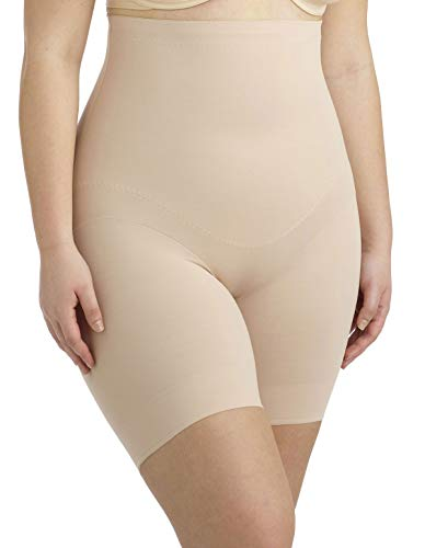 Miraclesuit Shapewear Womens Flexible Fi Plus Hi-Waist Thigh Slimmer Size Nude ()