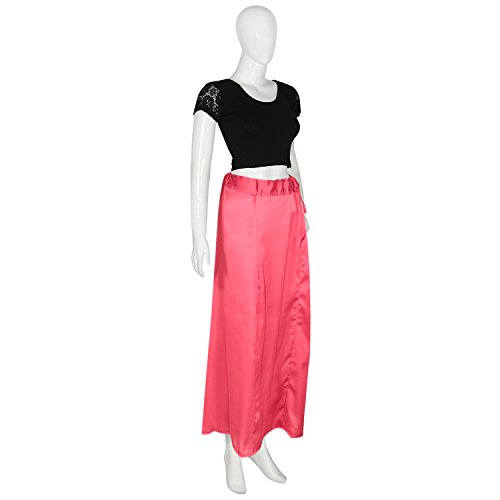 Shri Balaji Satin Silk Pink Skirt Indian Saree Petticoat Undercoat Lining  Skirt Quilted ...