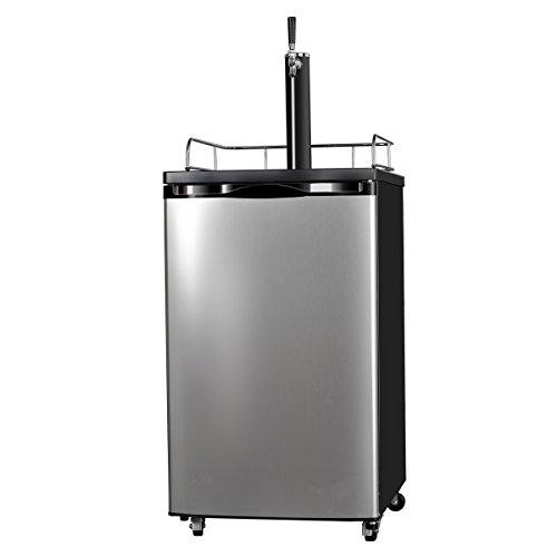 SMETA Freestanding Draft Beer Dispenser with Beer tower Beer keg cooler refrigerator 4.9 cu ft,Stainless steel by SMETA (Image #1)