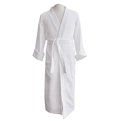 Couple's Terry Cloth Bathrobe Egyptian Cotton Unisex/One Size Luxurious Soft Plush Elegant Luxor Linens San Marco (Single Robe, Custom monogram with Gift Packaging)