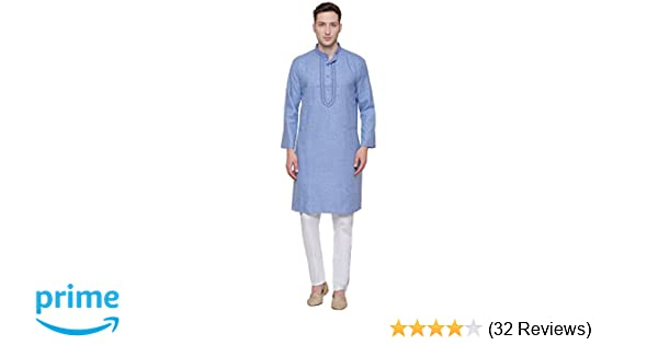 Amazon.com: Maple Clothing Cotton Embroidered Mens Kurta Pajama India Clothes: Clothing
